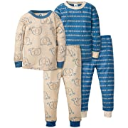Gerber Baby Boys Organic 2 Pack Cotton Footed Unionsuit, 24 months, ELEPHANT