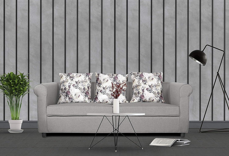 Adorn India Magnum 3 Seater Sofa (Light Grey)