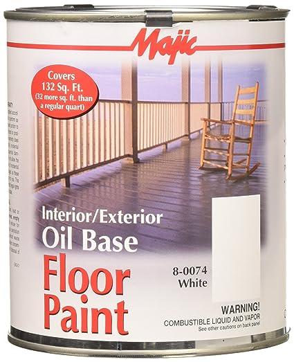 YENKIN MAJESTIC PAINT INT/EXT OB 8 0074 2 0074 2 White Interior/Exterior Oil  Base FLR QT   House Paint   Amazon.com