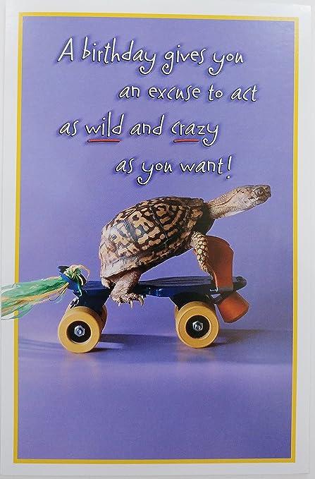 Amazon Happy Birthday Skateboarding Turtle Greeting Card Act