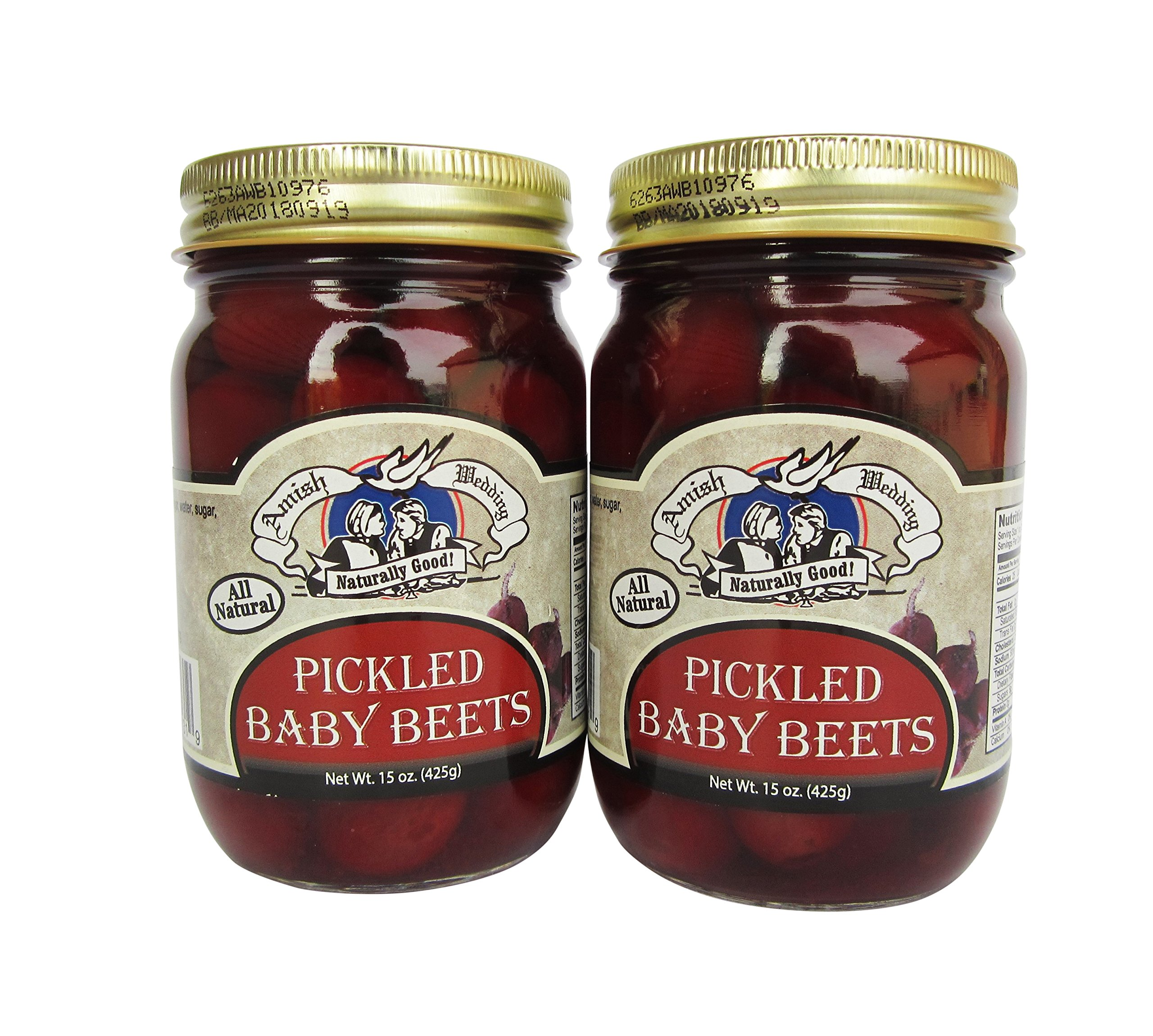 Amish Wedding Foods Pickled Baby Beets 2-15oz Jars