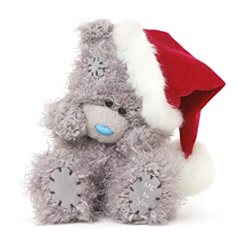 me to you 5 inch tatty teddy plush bear wearing a santa hat - Peluche Me To You