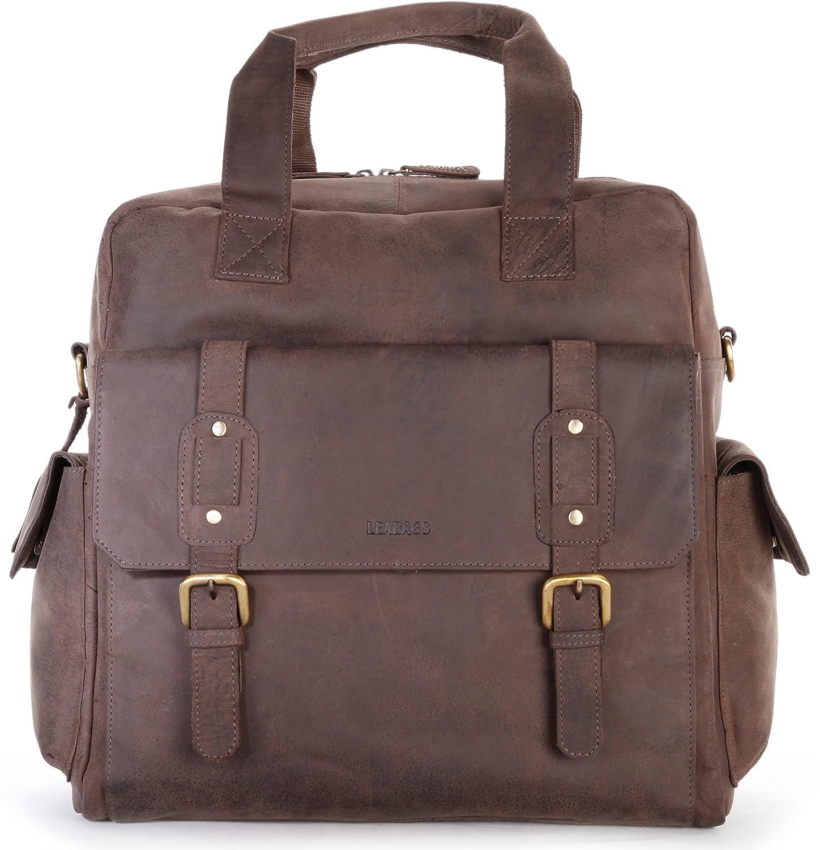 LEABAGS Garland Handtasche aus Echtem Büffel-Leder im Vintage Look - Muskat