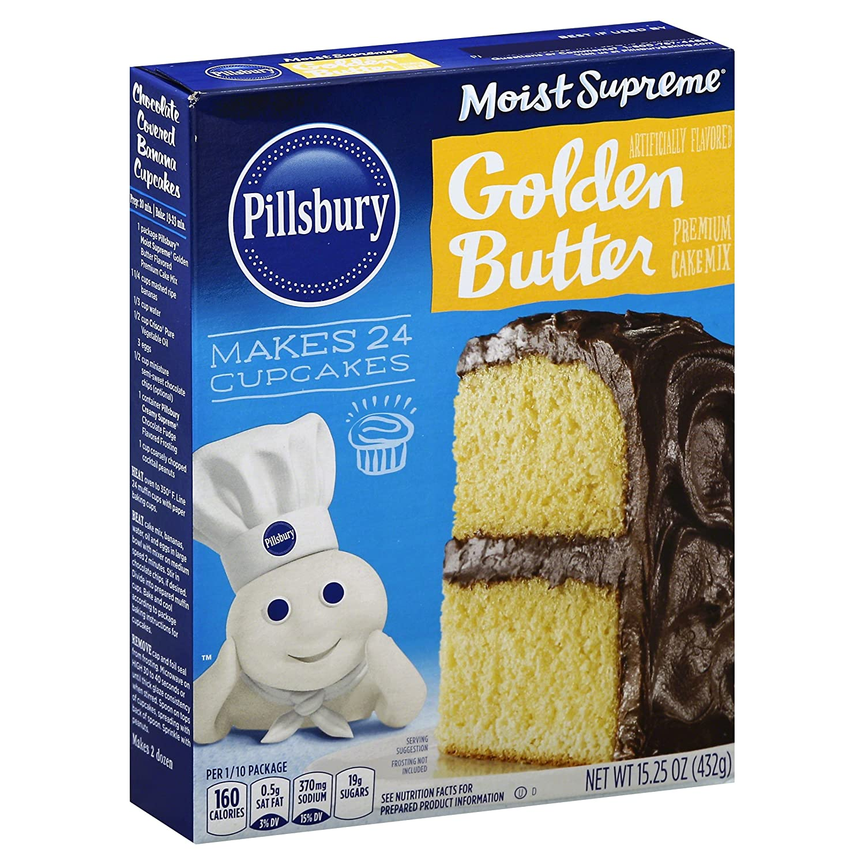 Pillsbury Moist Supreme, Golden Butter Recipe Cake Mix, 15.25 oz