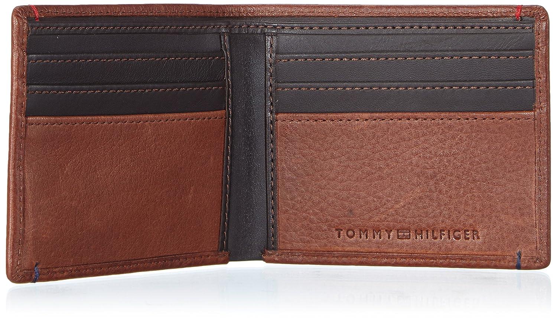 Tommy Hilfiger Tiago Mini CC Wallet - Monedero de Cuero Hombre, Color marrón, Talla 21x9x2 cm (B x H x T): Amazon.es: Zapatos y complementos