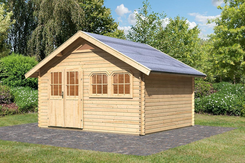 Karibu Gartenhaus Doderic 4 Blockbohle 40 mm