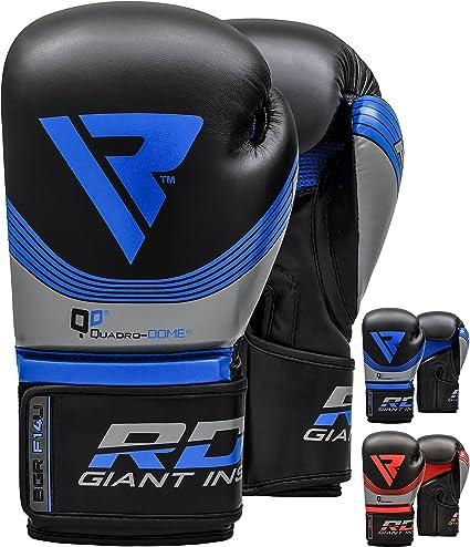 RDX Guantes de Boxeo Kick Boxing Muay Thai Sparring Entrenamiento Saco Adulto Cuero Maya Hide Combate Boxing Gloves