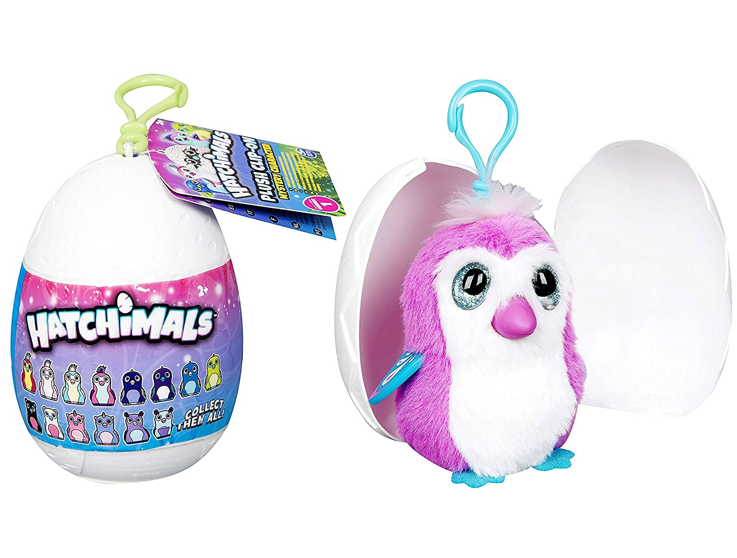 Hatchimals Egg Soft Peluche Clip on Carácter Misterioso