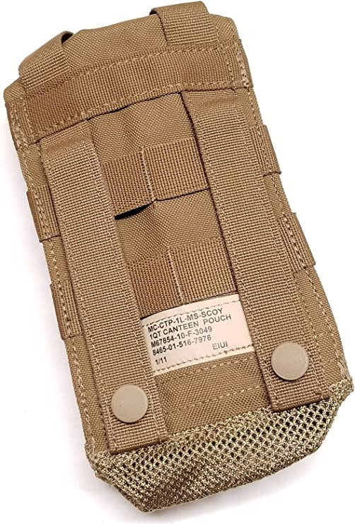USMC US Military FSBE 1QT Canteen General Purpose Pouch Coyote Brown EXC
