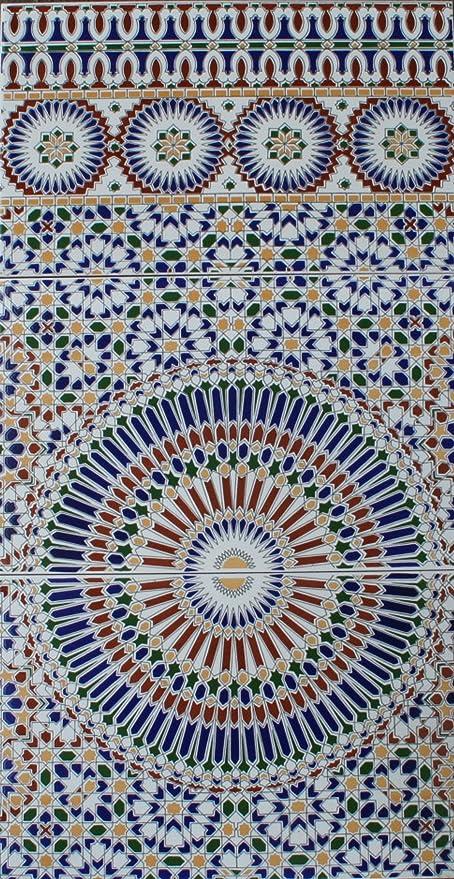 3 Ceramic Tiles Alhambra Wall Tiles Moroccan Mosaic Tile Amazon