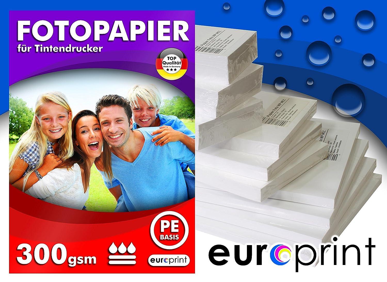 Fotopapier 300g 50 Blatt A4 Seidengl/änzend Mikropor/ös R/ückseite PE Qualit/ät