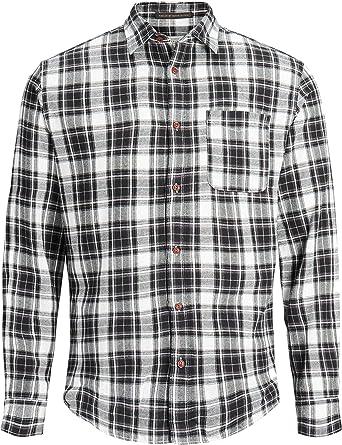 Jack & Jones de los Hombres Steven Pocket Slim Fit Camisa, Negro, XXL: Amazon.es: Ropa y accesorios