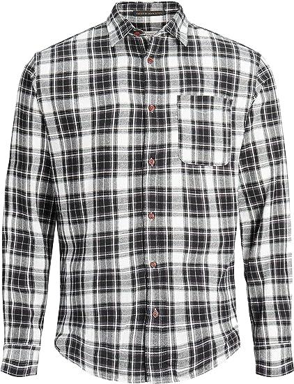 JACK & JONES Hombre Steven Pocket Slim Fit Camisa, Negro, XX-Large ...