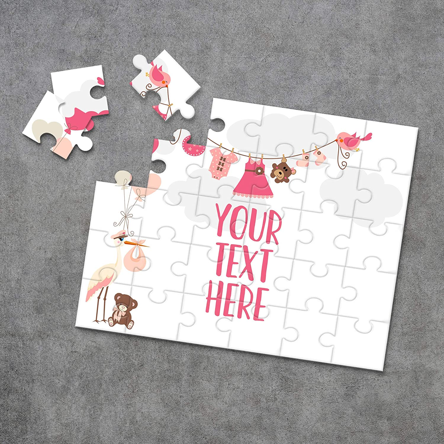 CYOP0252 Personalized Puzzle Pregnancy Announcement Wedding Announcement Custom Puzzle Announcement Ideas Create Your Own Puzzle