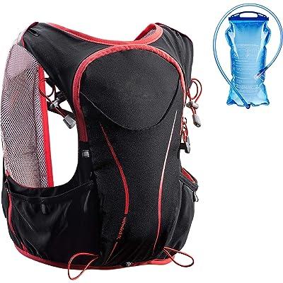 Azarxis Mochila de Hidratación Trail Running 5L Ligera Chaleco Ciclismo con Botella de Agua para Senderismo Escalada Corriente