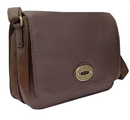 00f61ba207 Rowallan Women s Taupe Brown Leather Shoulder Bag  Amazon.co.uk  Luggage