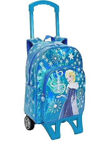 Mochila con Ruedas Disney Frozen Azul 42 cm. Toybags 2018: Amazon.es: Equipaje