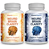 Brain Supplement Healthy Brain Pills - For Brain Fog, Brain Health, Memory, Focus, Concentration, Energy - Unique Day & Night Formula Gives Your Brain The 24hr Support It Deserves - By Steele Spirit