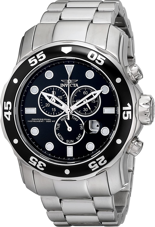 Invicta Men s 15081 Pro Diver Analog Display Japanese Quartz Silver Watch