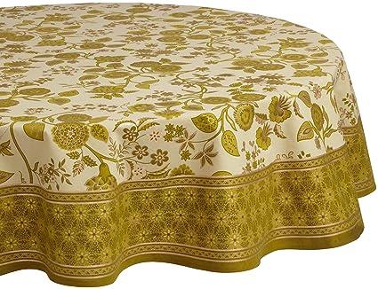 Mahogany Jaisalmer Printed 70 Inch Round Cotton Tablecloth