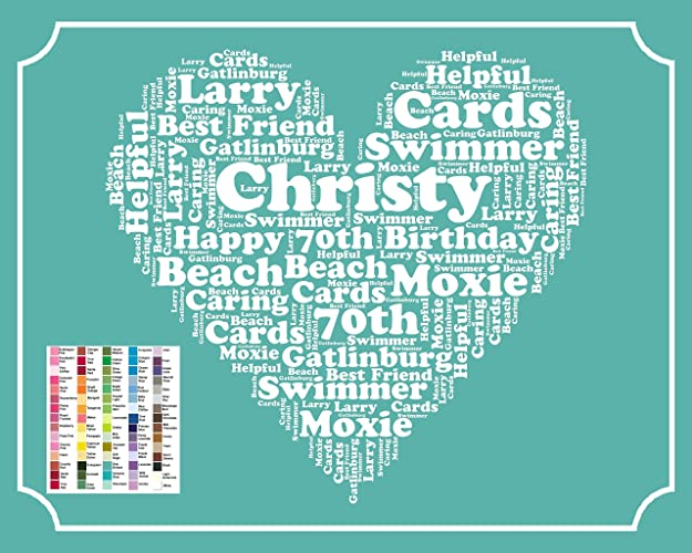 Seventy, 70th, 70th Birthday Gifts, 70th Birthday Gift Ideas, 70, Gifts, Personalized, Wordart, Gift for Her, Gift for Him, Man, Woman, Men, ...