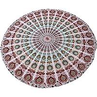 挂毯 壁挂 曼荼罗 织锦 印度棉质 床单 野餐毯 墙壁 艺术 嬉皮 织锦 单人床