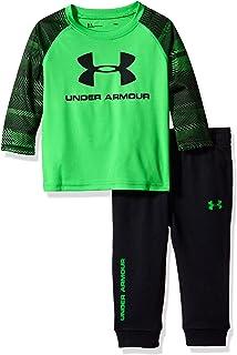 d502b10769 Amazon.com: Under Armour Baby Boys' Speedlines Big Logo Set: Clothing