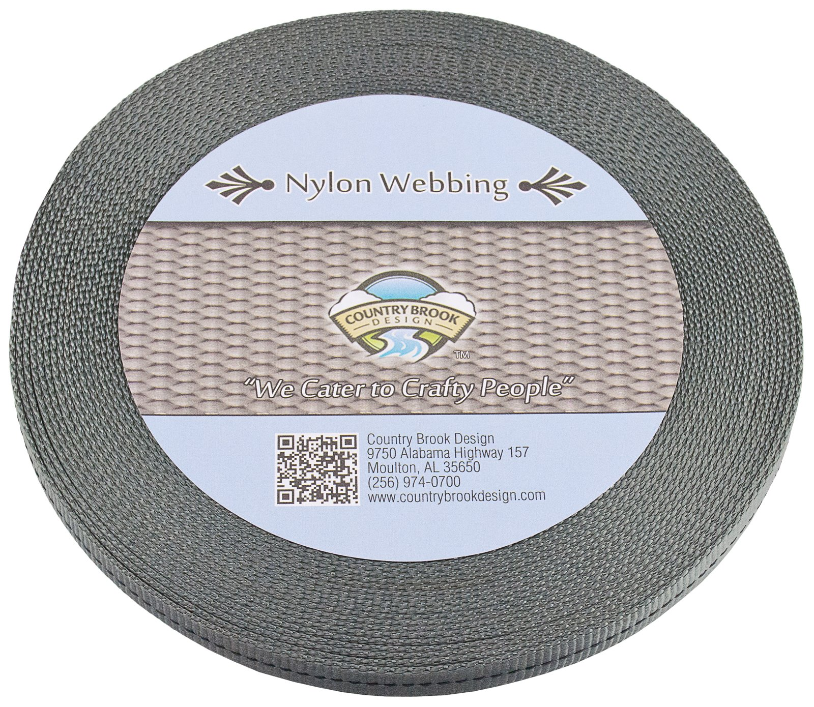 Country Brook Design - 1/2 Inch Foliage Green Military Spec Tubular Nylon Webbing, 50 Yards by Country Brook Design