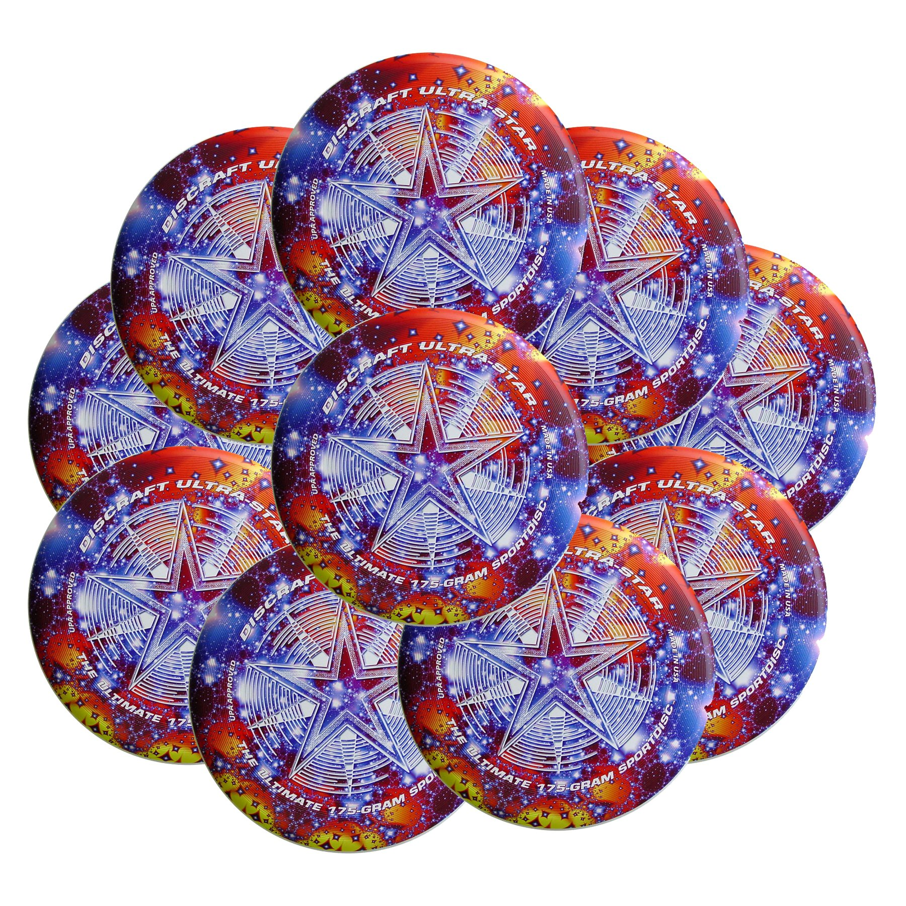 Discraft SuperColor Ultra-Star 175g Ultimate Disc Starscape (10 Pack) by Discraft