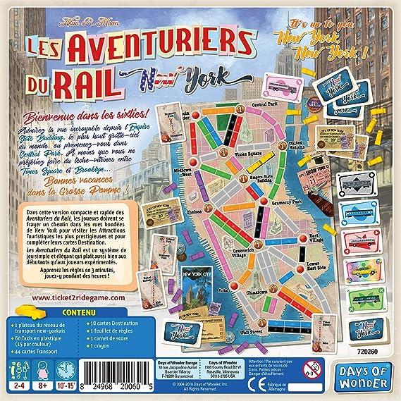 Jeu de Plateau famille Train pour Train New York