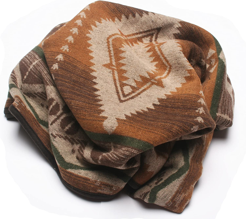 RUTH/&BOAZ Outdoor Wool Blend Blanket Ethnic Inka Pattern BCD