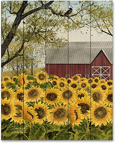 Courtside Market Sunflower barn 16 x20 Wood Pallet Wall D cor, Multi Color