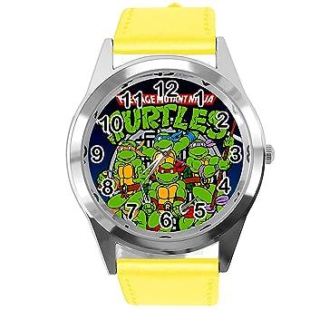TAPORT® Reloj de Cuarzo Amarillo Banda de Cuero Redondo para ...