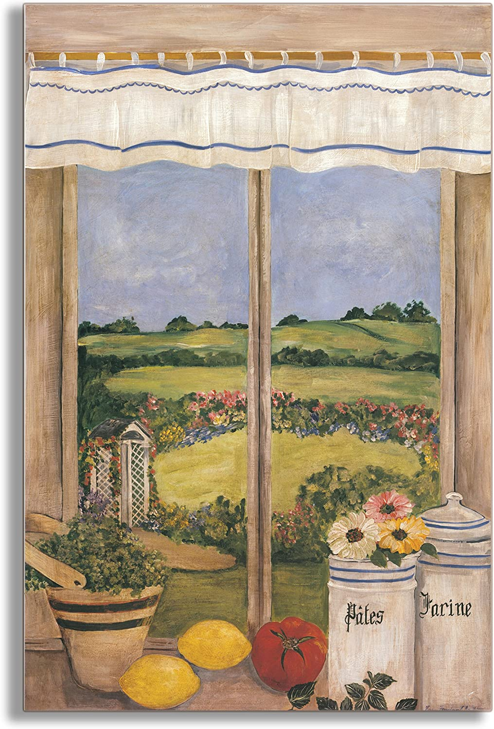 Stupell Home Décor Decorative Faux Window Scene, Tuscan Kitchen, 22 x 0.5 x 33, Proudly Made in USA