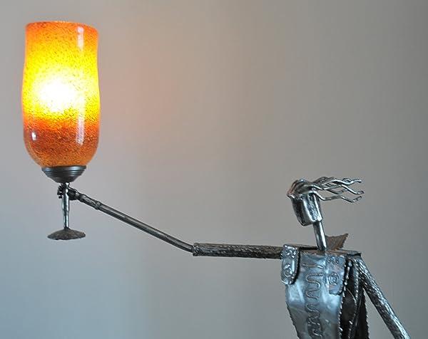 Floor lamp metallic sculpture with blown glass unique amazon floor lamp metallic sculpture with blown glass unique aloadofball Gallery