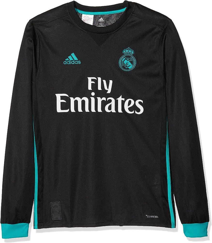adidas A JSY Y LS Camiseta 2ª Equipación Real Madrid 2017-2018-Champions League, niños, Negro/arraer, 176: Amazon.es: Ropa y accesorios