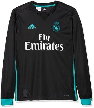 adidas A JSY Y LS Camiseta 2ª Equipación Real Madrid 2017-2018-Champions  League 2081a7ca6ebca