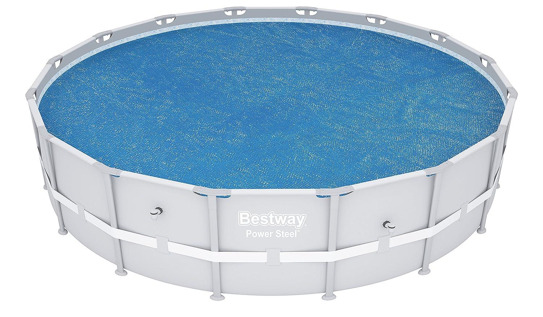 Bestway 58253 - Cobertor Solar para piscinas Steel Pro, Power Steel, Hydrium, Cubierta de diámetro 488 cm: Amazon.es: Jardín