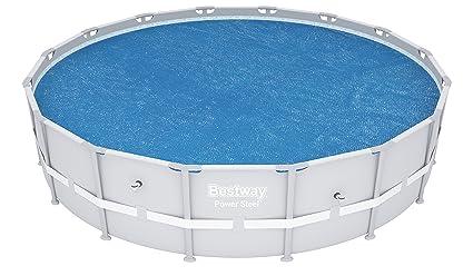 Bestway 58253 - Cobertor Solar para piscinas Steel Pro, Power Steel, Hydrium, Cubierta