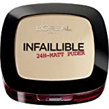 L'Oréal Paris, Cipria Infaillible 24 H, 160, Sand Beige, 1 x 9 g