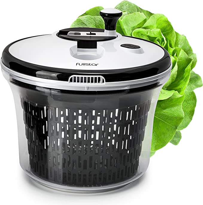 Amazon.com: Salad Spinner Lettuce Dryer Large with Bowl and Colander Basket. BPA Free Clear Plastic Kitchen 5L Spinners: Home & Kitchen