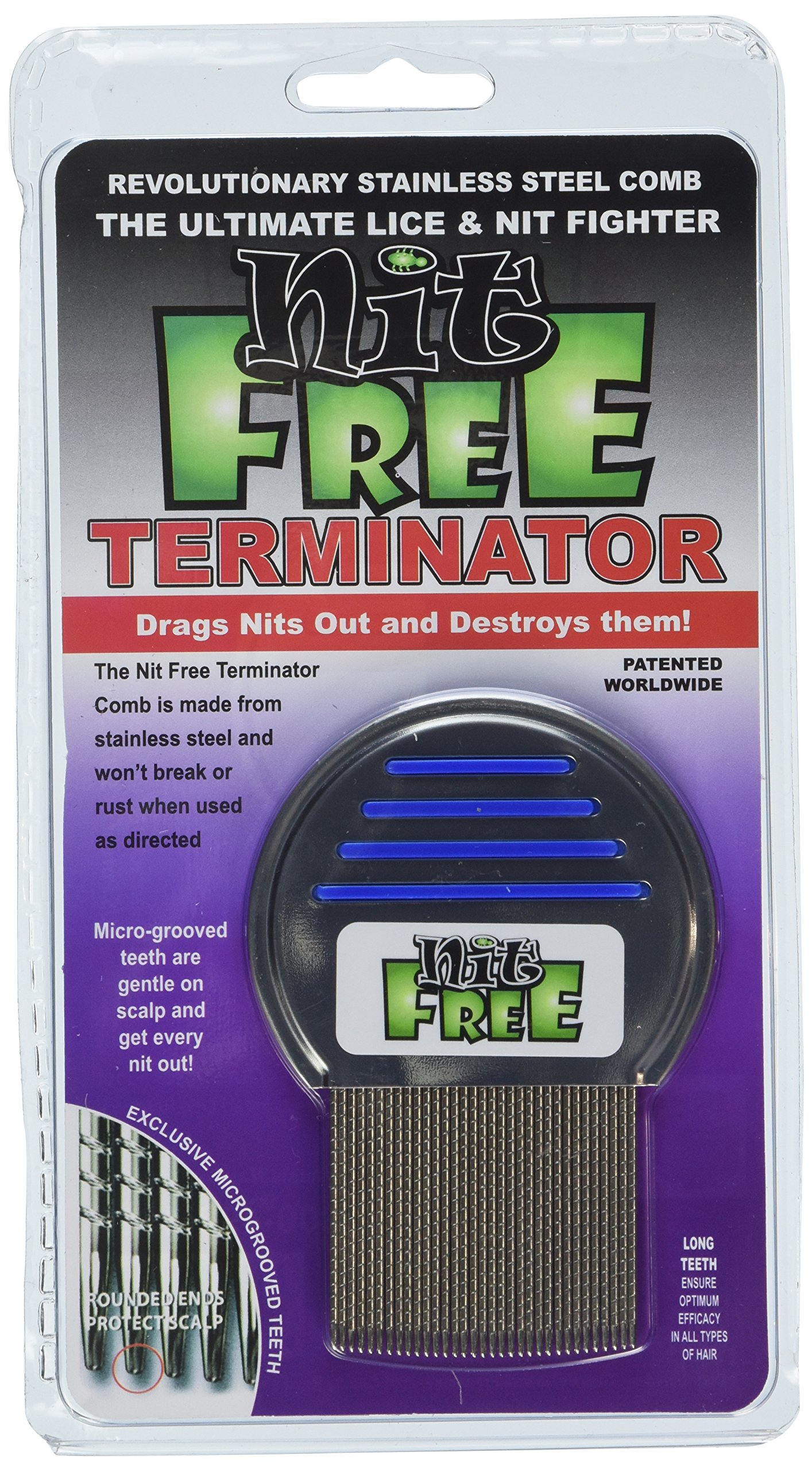 Nit Free Terminator Lice Comb (6-Pack) (Pack of 6) by Nit Free