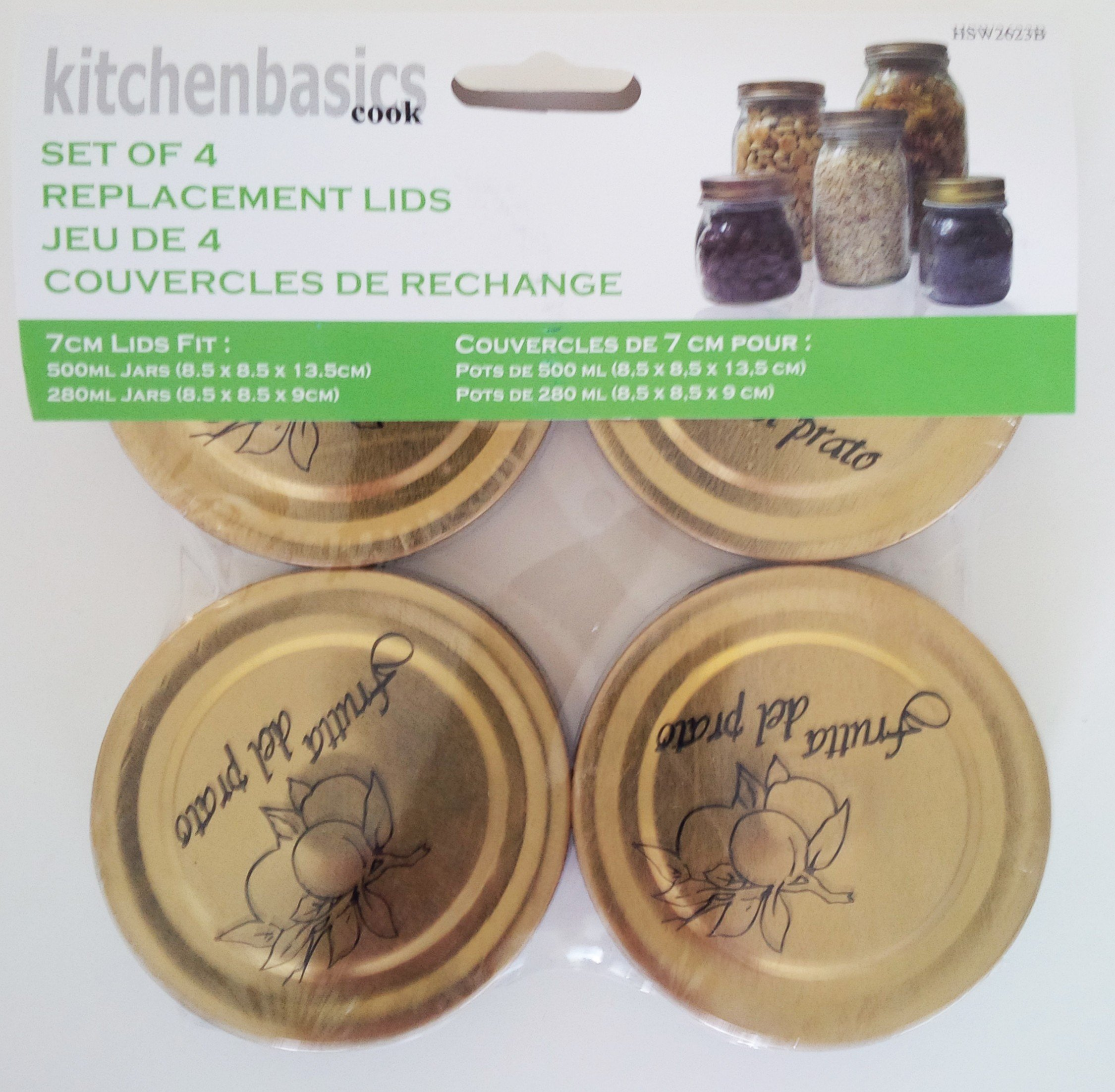 Kitchen Basics Canning Jar Caps - 70 mm - Pack of 4