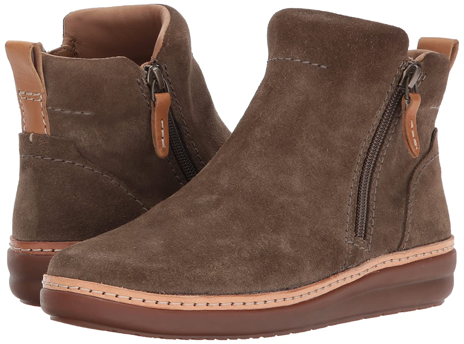 CLARKS Women's Amberlee ROSI US|Olive Ankle Bootie B01N4G3YE0 10 B(M) US|Olive ROSI Suede a73263