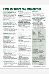 Microsoft Excel for Office 365 Introduction Quick Reference Guide - Windows Version (Cheat Sheet of Instructions, Tips & Shortcuts - Laminated Card) Pamphlet