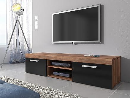 TV Mobile TV Porta Mobili Supporto Mambo Noce / Nero opaco , 160 ...