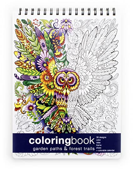 Amazon.com: Garden Paths and Forest Trails Coloring Book - Large ...