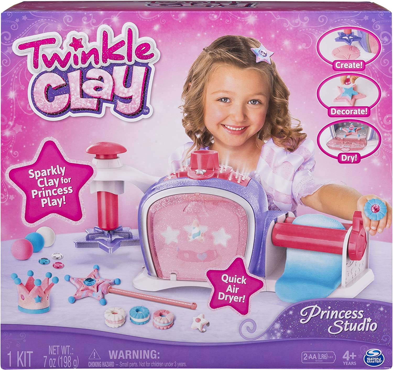 Princess Studio Makes Sparkly Air-Dry Clay Creations Twinkle Clay for Ages 4 and Up