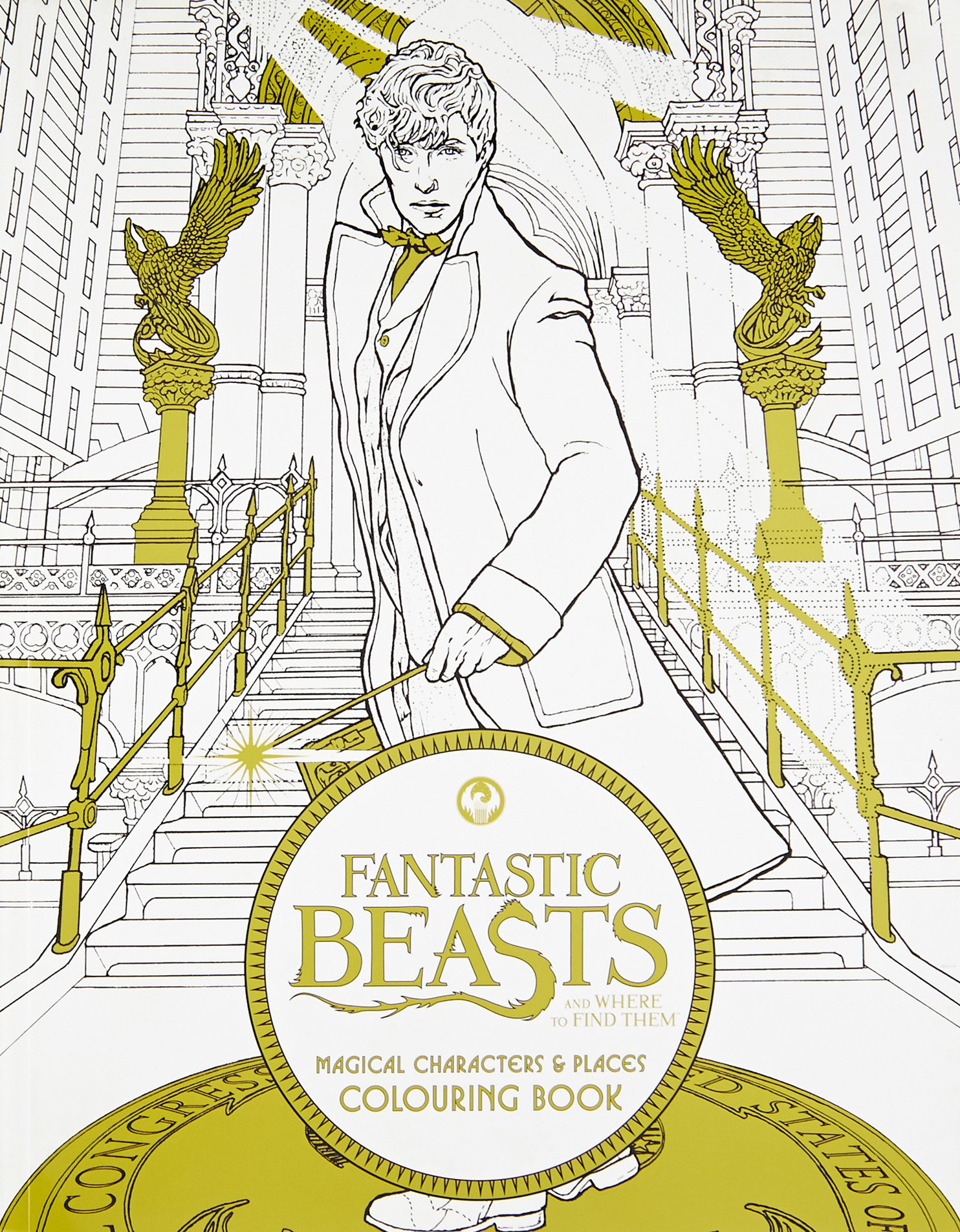 Fantastic Beasts And Where To Find Them Magical Characters Places Colouring Book Bks Amazoncouk HarperCollins