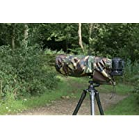 Waterproof Camera/Lens Rain Cover For Sigma 150-600 CONTEMPORARY F5-6.3 DG OS HSM, DPM Camo, & Carry Pouch
